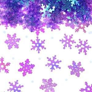 Confetti: Xmas - Table Accessories Iridescent Snowflakes Table/Invite Confetti (14g bag)
