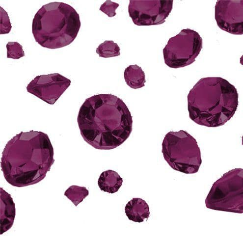 Crystals: Aubergine Gem Table Diamantes - Assorted