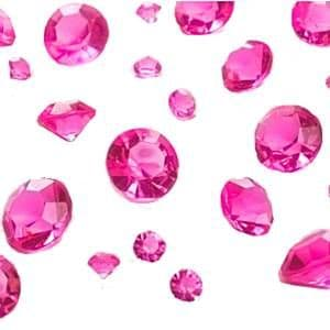 Crystals: Pink Table Diamantes Confetti (100g Bag)