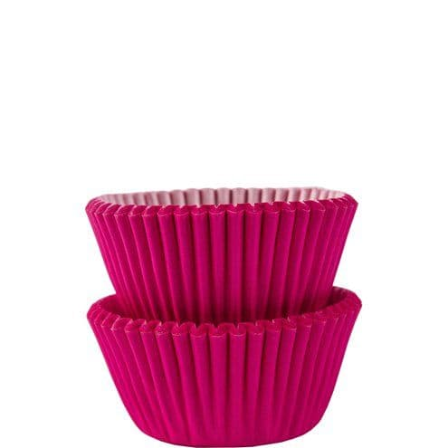 Cup Cake Cases: Hot Pink Mini Cupcake Cases - 3cm x100pk