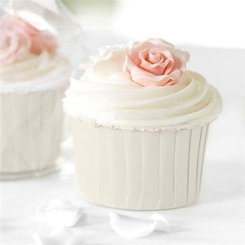 Cupcake Cases: Ivory Baking Cups x24pk