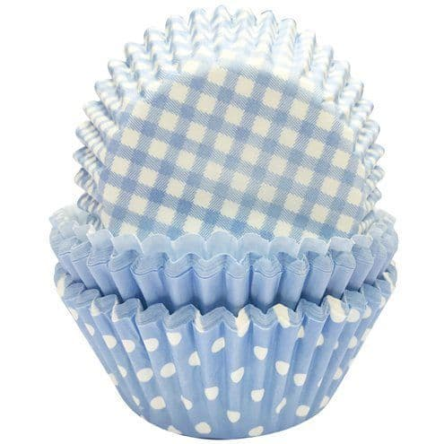 CupCake Cases: Light Blue Patterned Cupcake Cases x75pk