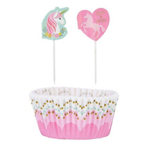 Cupcake Cases: Magical Unicorn Cupcake Cases & Picks x24pk