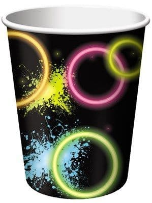 Cups: Glow Party Paper Cups 8pk