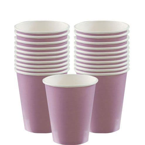 Cups: Lilac Cups - 266ml Paper Party Cups x8pk