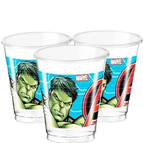 Cups: Mighty Avengers Plastic Cups - 200ml x8pk