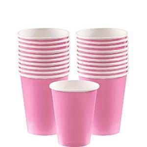 Cups: New Baby Pink Paper Cups 266ml (20pk)