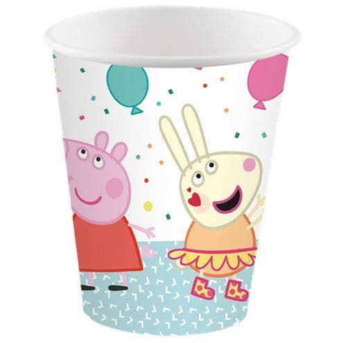 Cups: Peppa Pig Party Paper Cups 250ml (8pk)