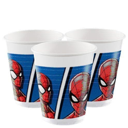 Cups: Spiderman Team Up Plastic Cups - 200ml x8pk