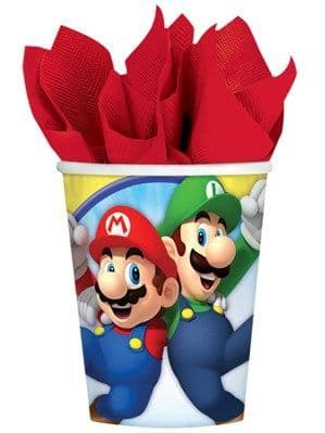 Cups: Super Mario Cups - 266ml Paper Party Cups (8pk)