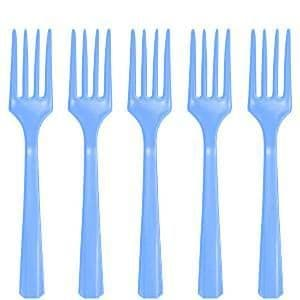 Cutlery: Baby Blue Plastic Forks x20pk