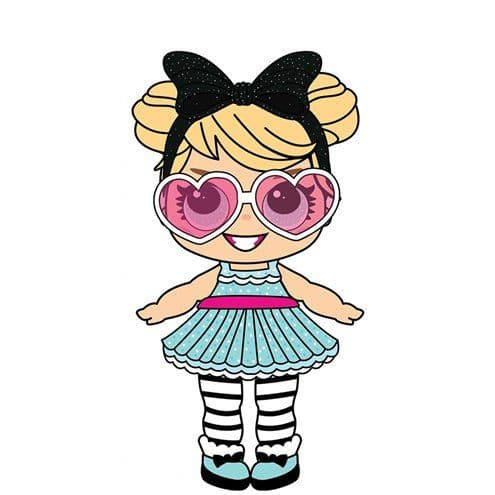 Cutout; Party Doll with Large Eyes & Shades - 86cm