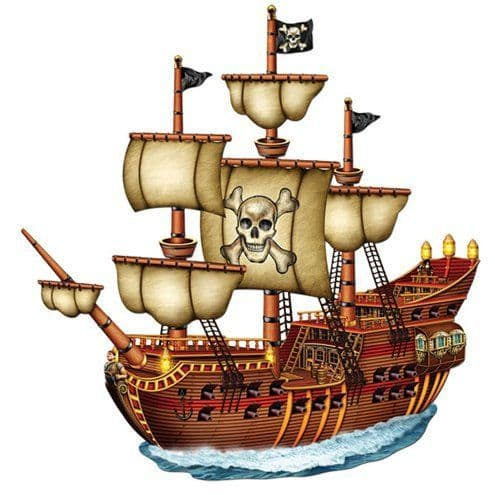 Cutouts: Pirate Ship Card Cutout - XLarge Card Cutout 78cm