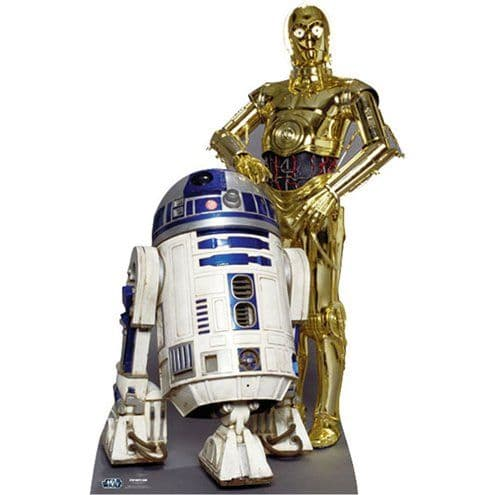 Cutouts: Star Wars The Droids R2D2 and C3PO Cardboard Cutout - 1.66m