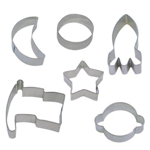 Cutters: Space Blast Party Cookie Cutter Set - Assorted Shaped Cookie Cutter Set