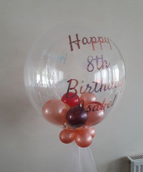 Deco Bubble Balloon with Small balloons inside - Personalised