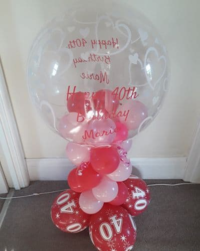 Deco Bubble Stack Personalised with filler (price for small balloons)