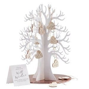 Decoration: Beautiful Botanics Wooden Wishing Tree Guest Book