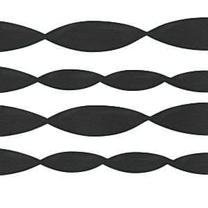Decoration: Black Crepe Streamer - 152m (each)
