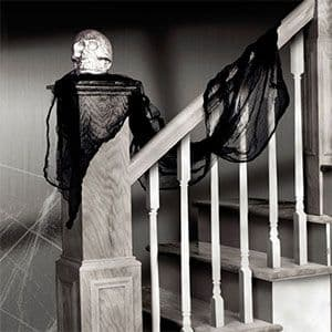 Decoration: Black Gauze Drape - 4.5m Halloween Decoration (each)