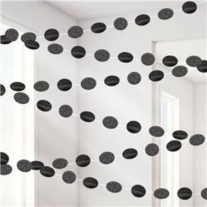 Decoration: Black Glitter Hanging String Decorations