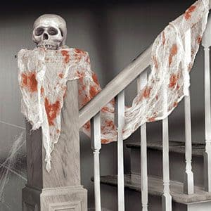 Decoration: Bloody White Gauze Drape - 4.5m Halloween Decoration (each)