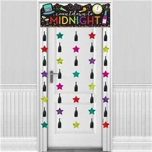 Decoration: Colourful New Year Door Curtain - 1.9m