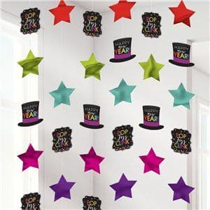Decoration: Colourful New Year String Decorations - 2m