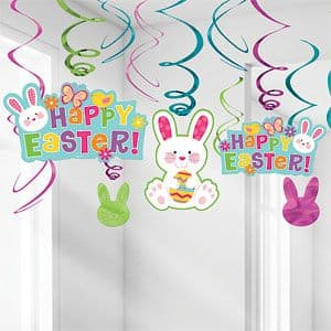 Decoration: Easter Swirl Decorations - 60cm (12pk)