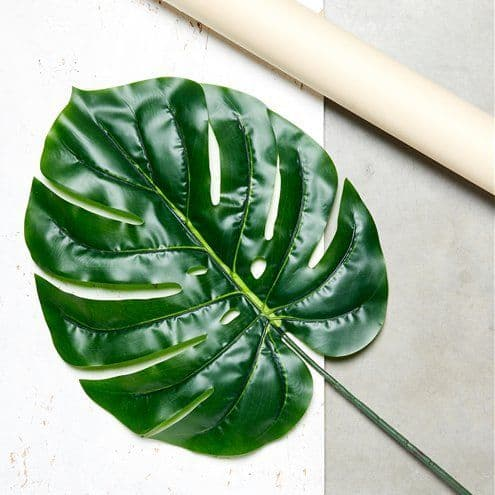 Decoration: Giant Green Tropical Philo Leaf Decoration - 107cm