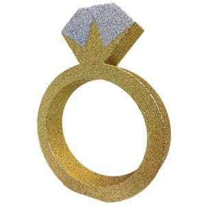 Decoration: Glitter Engagement Ring Table Decoration