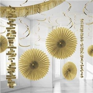 Decoration: Gold Paper & Foil Room Decorating Kit