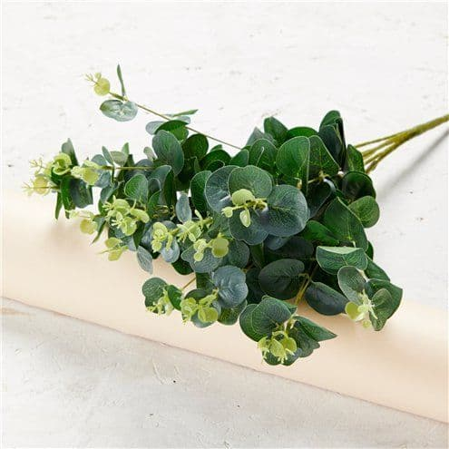 Decoration: Green Eucalyptus Bush - 50cm