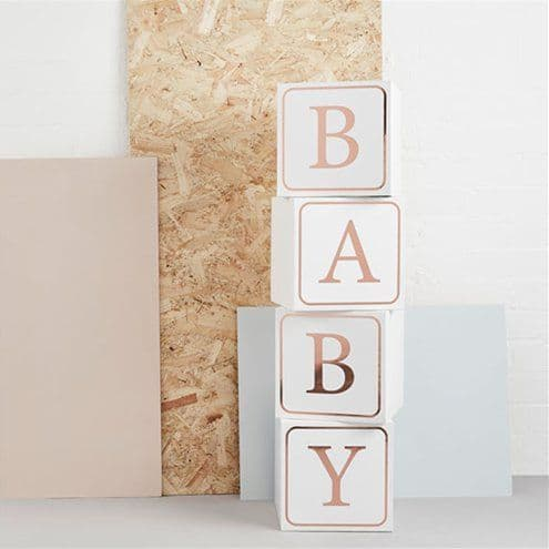 Decoration: Hello Little One Giant Baby Block Boxes
