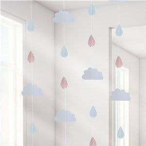 Decoration: Hello World Rose Gold Raindrop Hanging Decoration - 2m