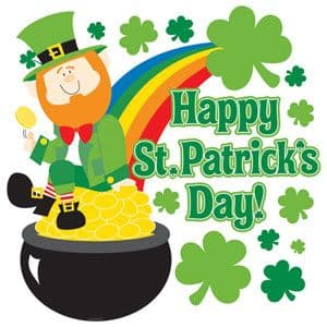 Decoration: Leprechaun Cutout - 38cm St Patrick's Day Decoration (each)