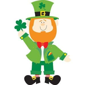 Decoration: Leprechaun Jointed Cutout - 89cm St Patrick's Day Decoration (each)