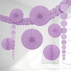 Decoration: Lilac Damask Decorating Kit (9pc)