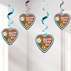 Decoration: Oktoberfest Hanging Decorations - 80cm Swirls (4pk)