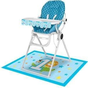 Decoration: One is Fun Boy High Chair Kit