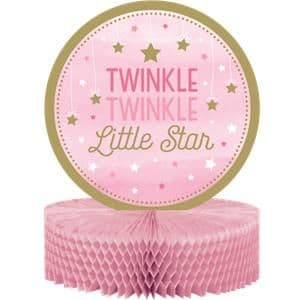 Decoration: One Little Star Girl Honeycomb Table Centrepiece - 31cm