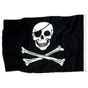 Decoration: Pirate Cloth Flag - 90cm (each)