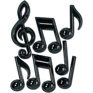 Decoration: Plastic Musical Notes - 33cm