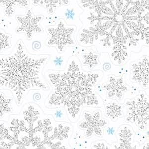 Decoration: Snowflake Vinyl Window 45cm Christmas Decorations (each)