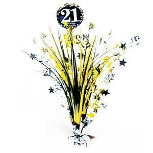 Decoration: Sparkling Celebration Age 21 Table Centrepiece - 46cm (each)