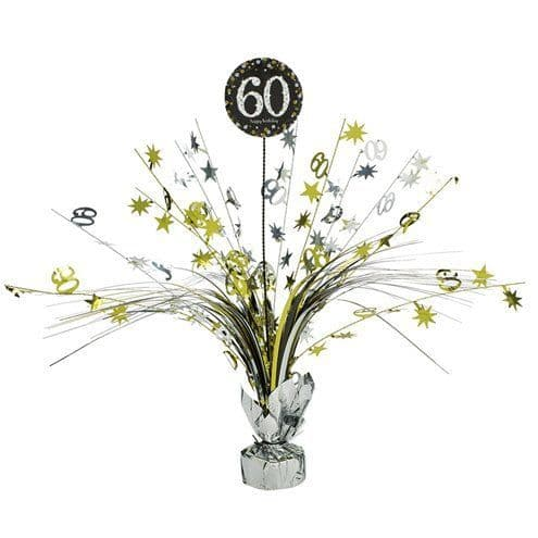 Decoration: Sparkling Celebration Age 60 Table Centrepiece - 46cm