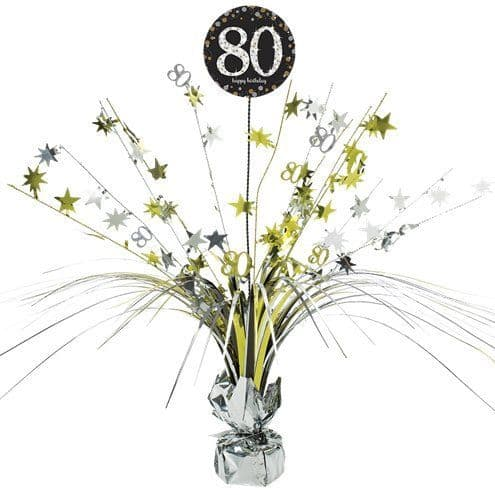 Decoration: Sparkling Celebration Age 80 Table Centrepiece - 46cm