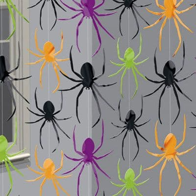Decoration: Spider String Decoration - 2m Halloween Decoration (6pk)