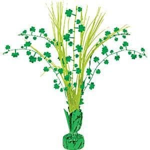 Decoration: St Patrick's Day Shamrock Spray Centrepiece - 32cm