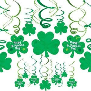 Decoration: St Patricks Day Hanging Swirls - 60cm (30pk)